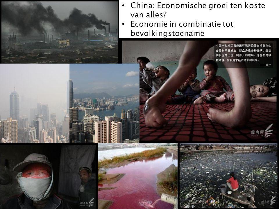 China: Economische groei ten koste van alles? Economie in combinatie tot bevolkingstoename