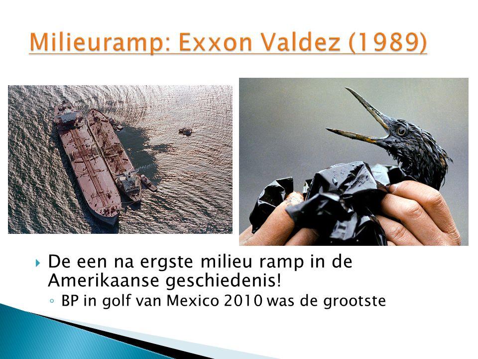  De een na ergste milieu ramp in de Amerikaanse geschiedenis.