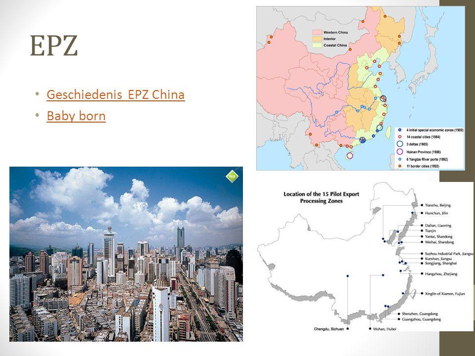 EPZ Geschiedenis EPZ China Baby born