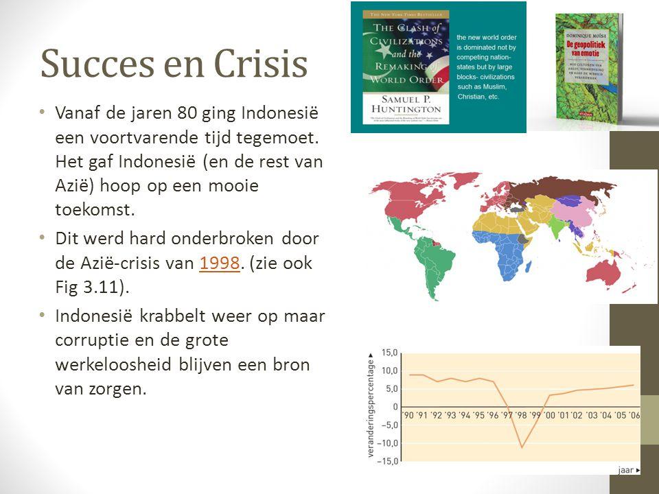 Succes en Crisis Vanaf de jaren 80 ging Indonesië een voortvarende tijd tegemoet.