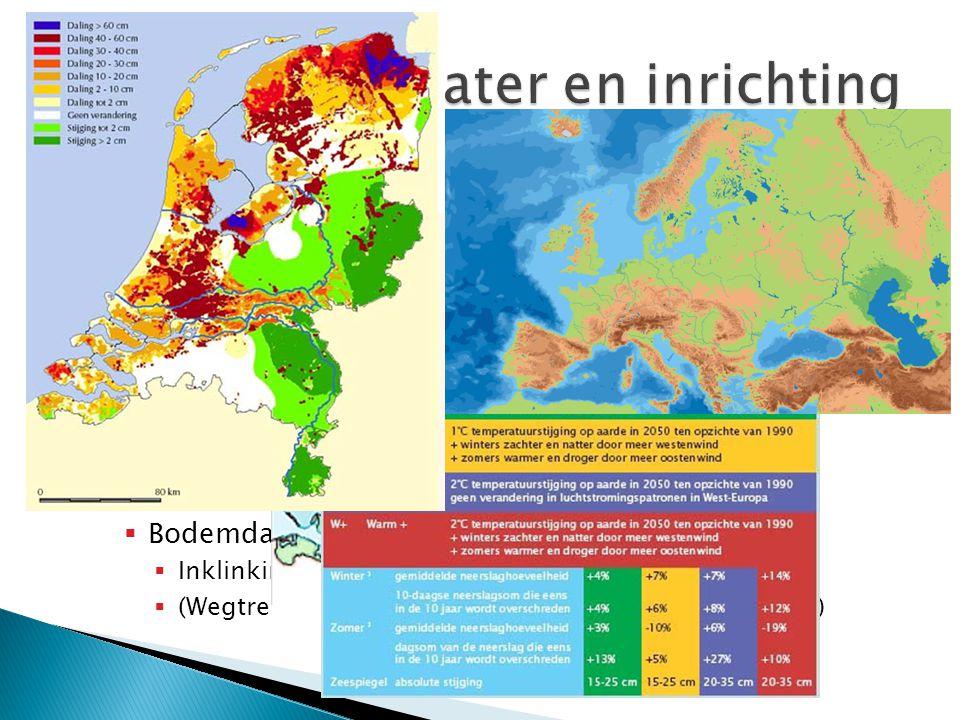  Dankzij dijken, polders en gemalen is het voor ons mogelijk om onder de zeespiegel te leven. (bb 161 (H)) ◦ Verschillende oorzaken vergroten de drei