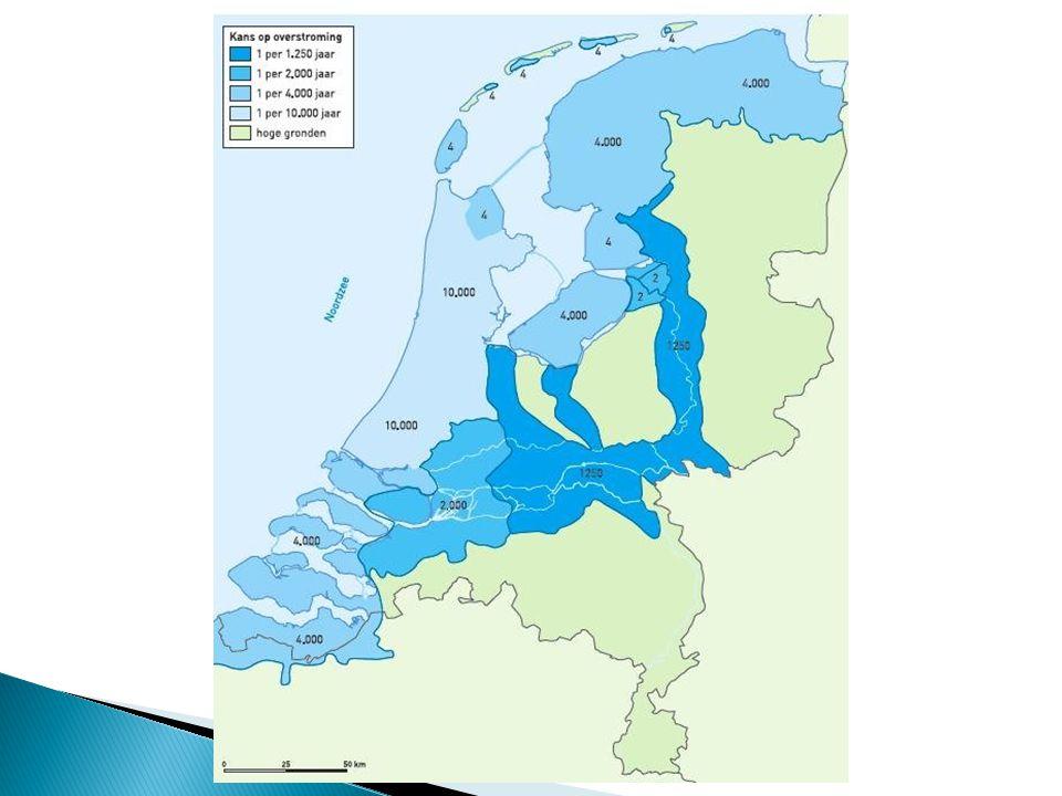  Maximale hoeveelheid water die een rivier nog veilig kan verwerken voordat het rivierengebied overstroomt.