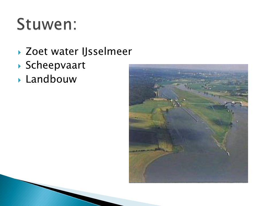  Zoet water IJsselmeer  Scheepvaart  Landbouw