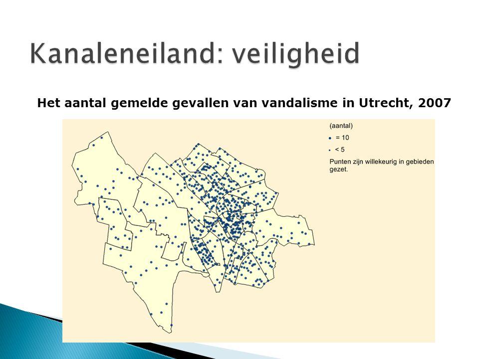 Kanaleneiland: veiligheid Het aantal gemelde gevallen van vandalisme in Utrecht, 2007