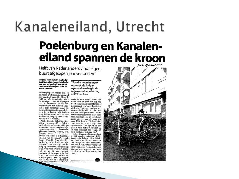 Kanaleneiland: sociale cohesie Sociaal-economische kenmerken van de bewoners