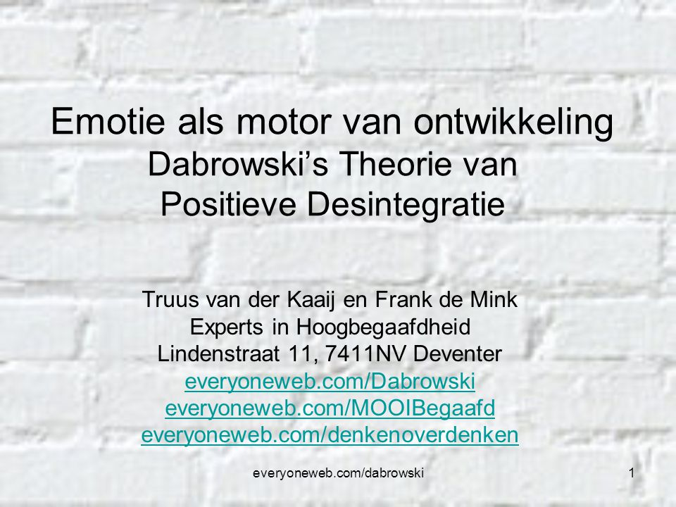 everyoneweb.com/dabrowski32 Wat is een dynamisme.