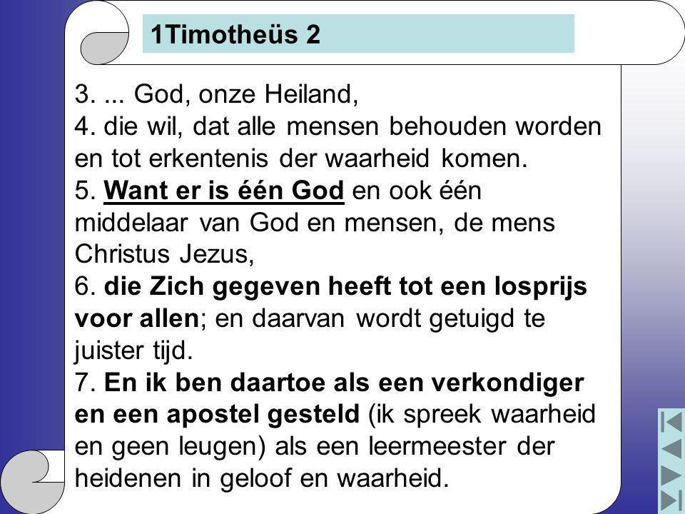 3....God, onze Heiland, 4.