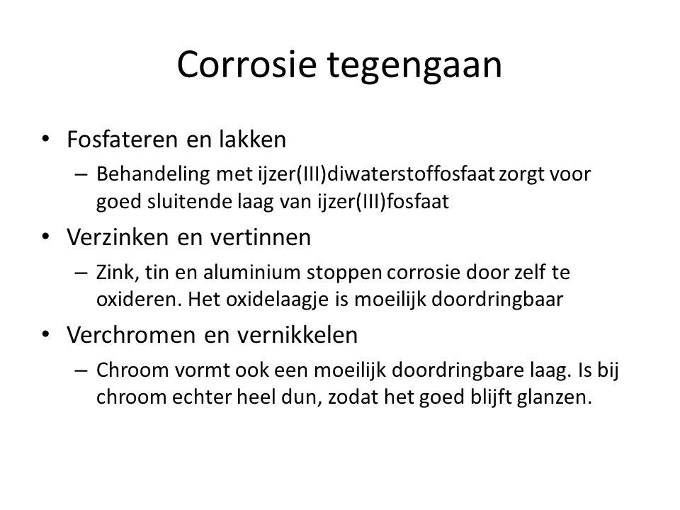 Corrosie tegengaan Fosfateren en lakken – Behandeling met ijzer(III)diwaterstoffosfaat zorgt voor goed sluitende laag van ijzer(III)fosfaat Verzinken