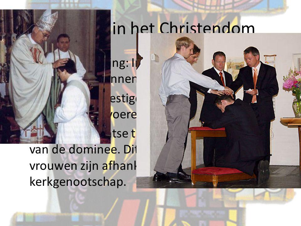 Rituelen in het Christendom 6) Priesterwijding: In de RK traditie geldt dit alleen voor mannen. Zij worden bevestigd als priester en mogen nu de ritue