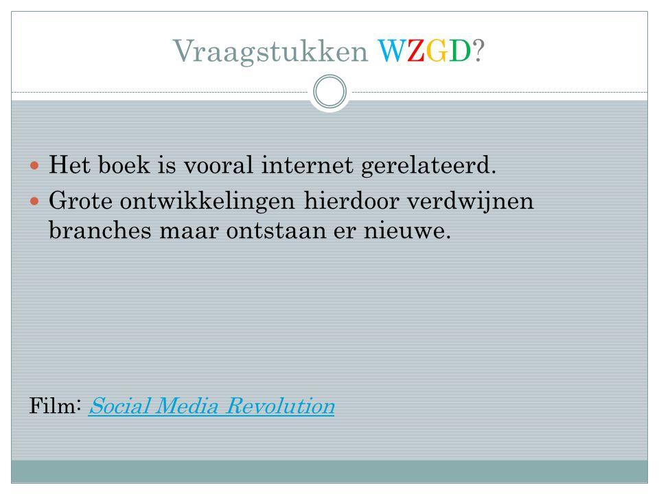 Vraagstukken WZGD. Het boek is vooral internet gerelateerd.