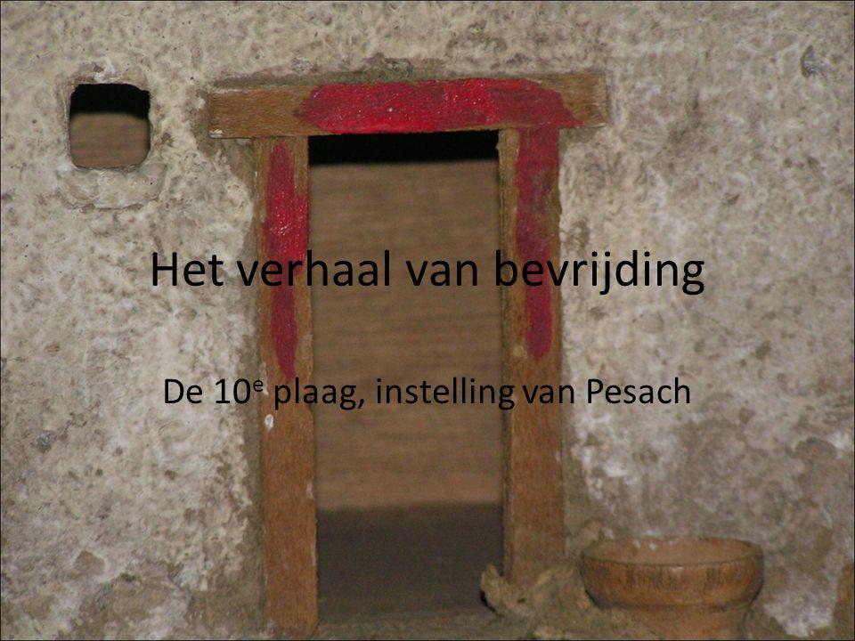 Het verhaal van bevrijding De 10 e plaag, instelling van Pesach