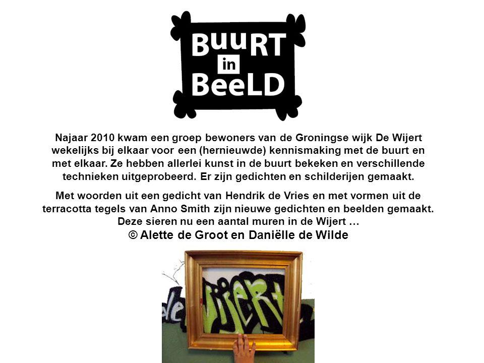 Najaar 2010 kwam een groep bewoners van de Groningse wijk De Wijert wekelijks bij elkaar voor een (hernieuwde) kennismaking met de buurt en met elkaar.
