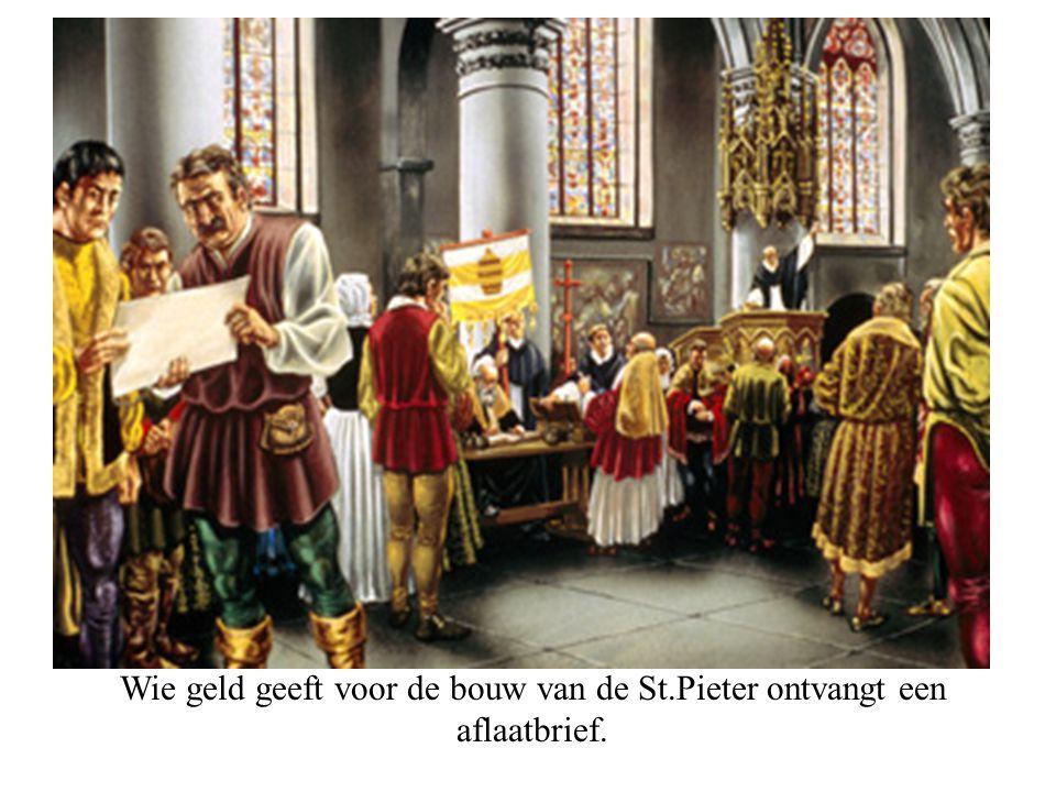 Luther slaat zijn 95 stellingen tegen de kerkdeur van Wittenberg (1517)