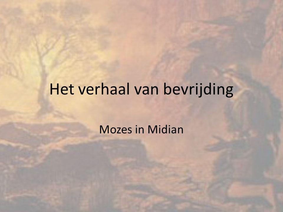 Het verhaal van bevrijding Mozes in Midian