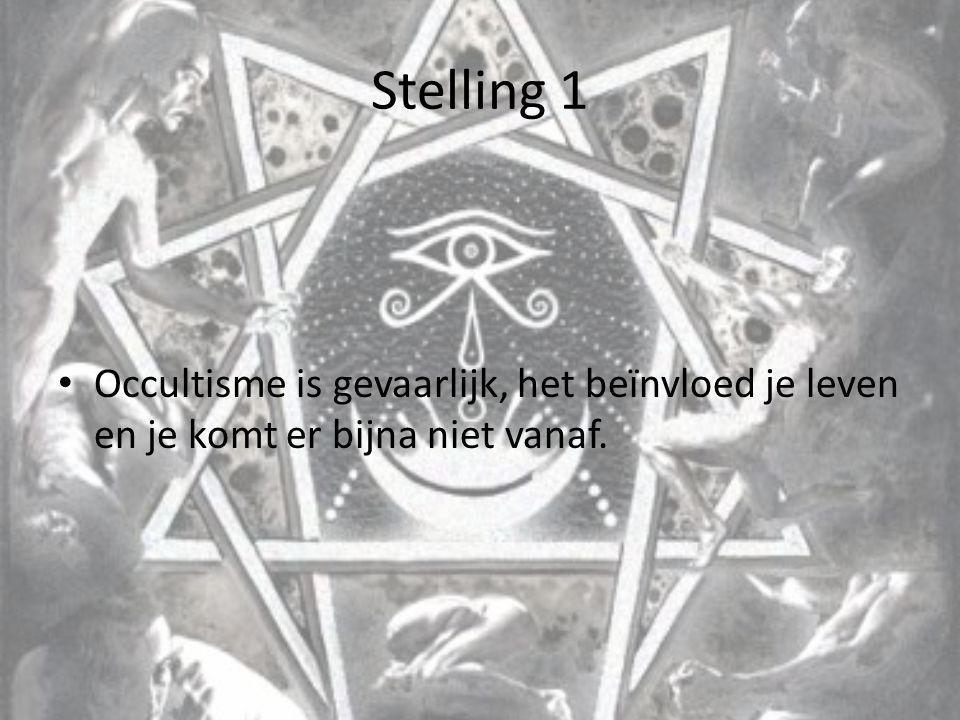 Stelling 2 Series, boeken en films over occultisme zijn onschuldig ze dienen alleen voor vermaak en hebben geen verborgen boodschappen