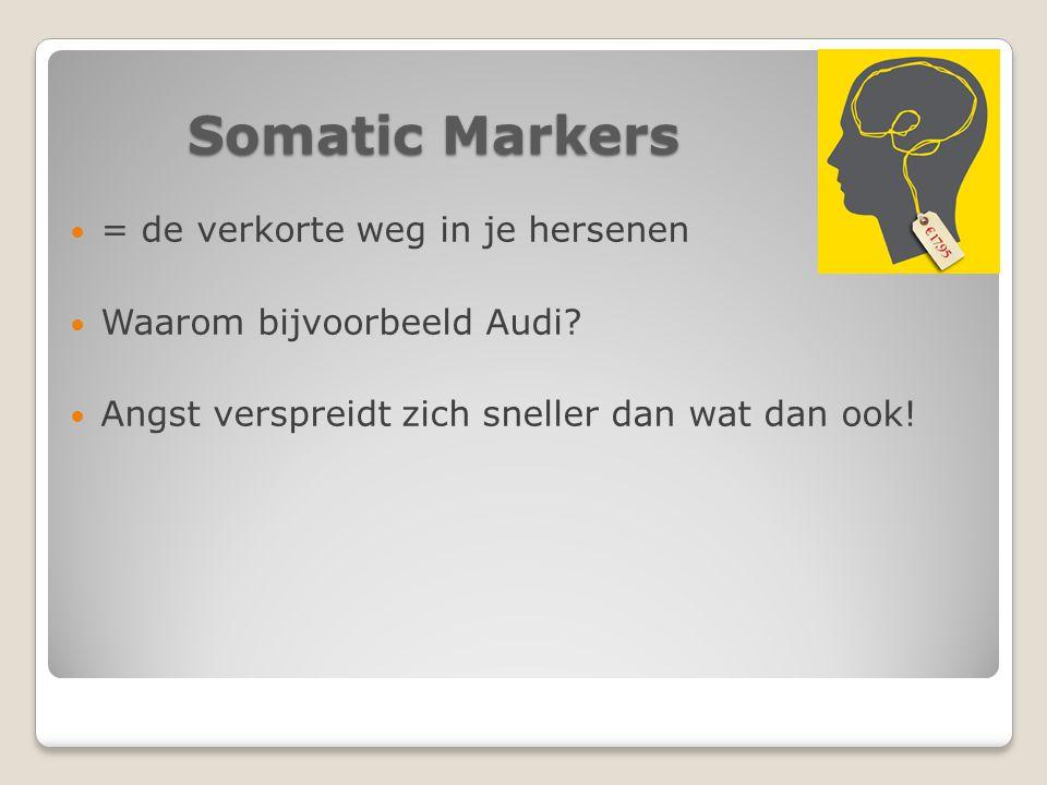 Somatic Markers = de verkorte weg in je hersenen Waarom bijvoorbeeld Audi.