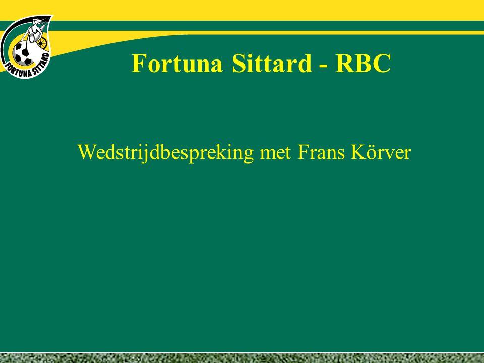Fortuna Sittard - RBC Wedstrijdbespreking met Frans Körver
