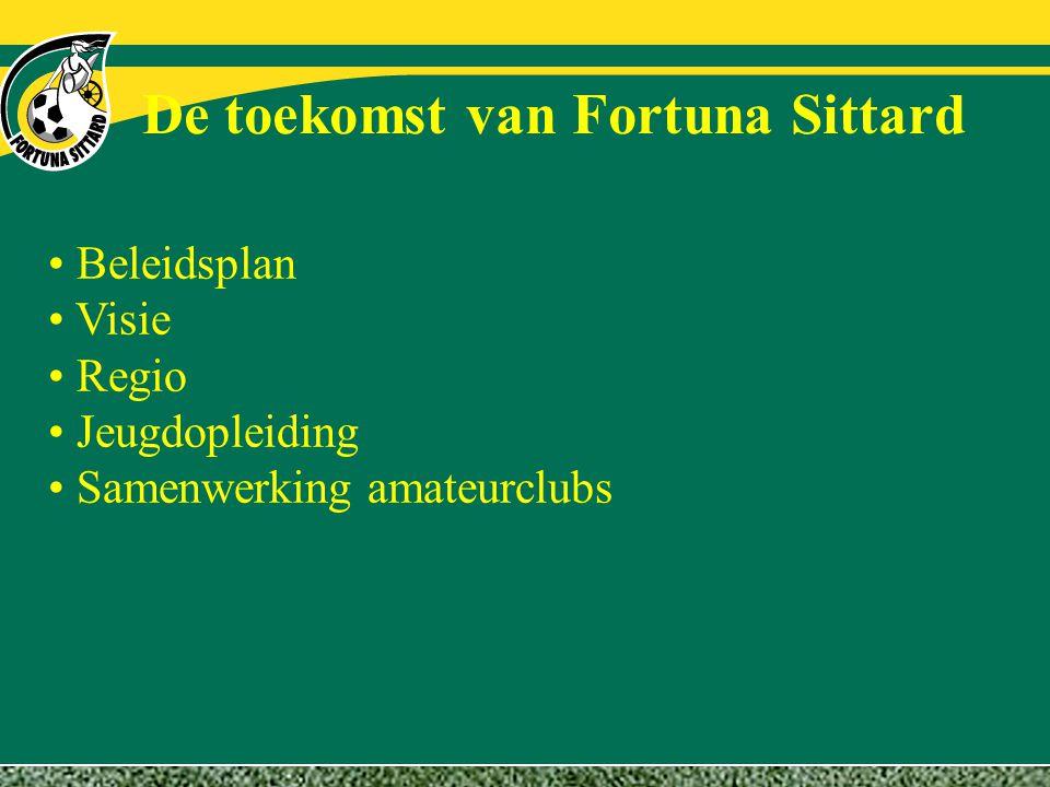 De toekomst van Fortuna Sittard Beleidsplan Visie Regio Jeugdopleiding Samenwerking amateurclubs