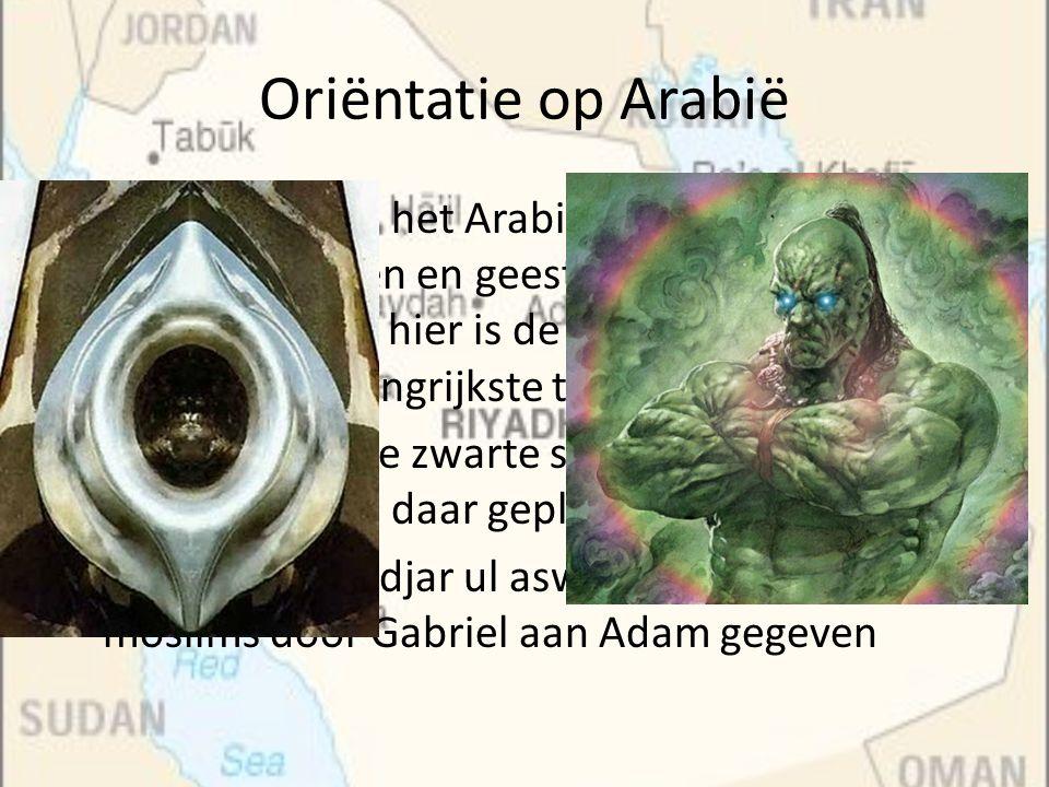 Oriëntatie op Arabië Er was, binnen het Arabische denken, ruimte voor vele goden en geesten, verbonden aan de natuur, ook hier is de strijd tussen goe