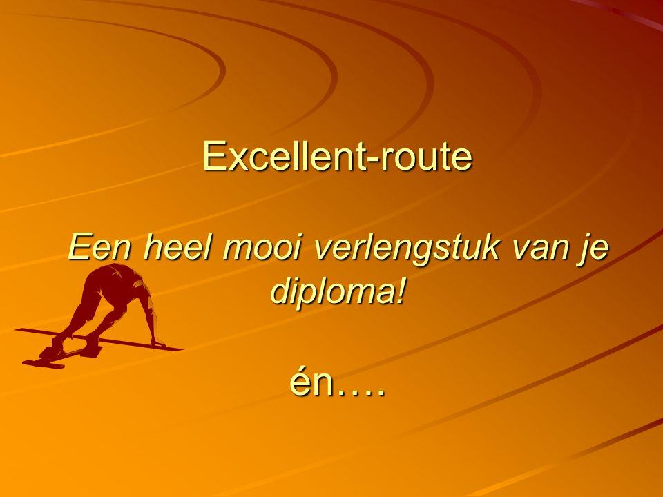 Excellent-route Een heel mooi verlengstuk van je diploma! én….