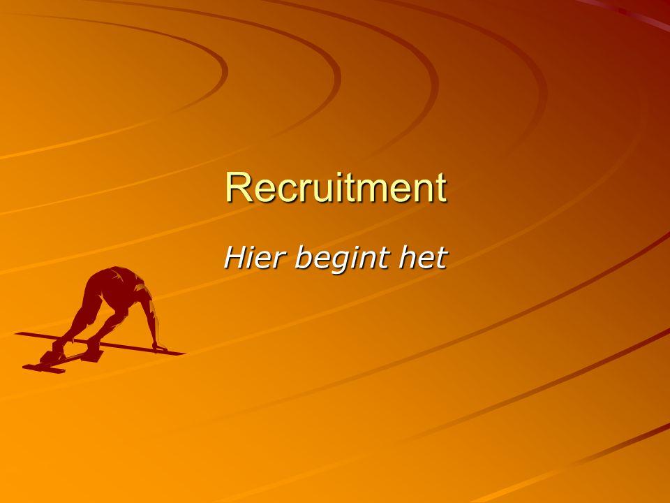 Recruitment Hier begint het