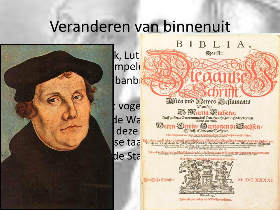 Veranderen van binnenuit Reactie van de kerk, Luther wordt veroordeeld en hij wordt als bestempeld als ketter in 1518 Luthers reactie de banbrief van