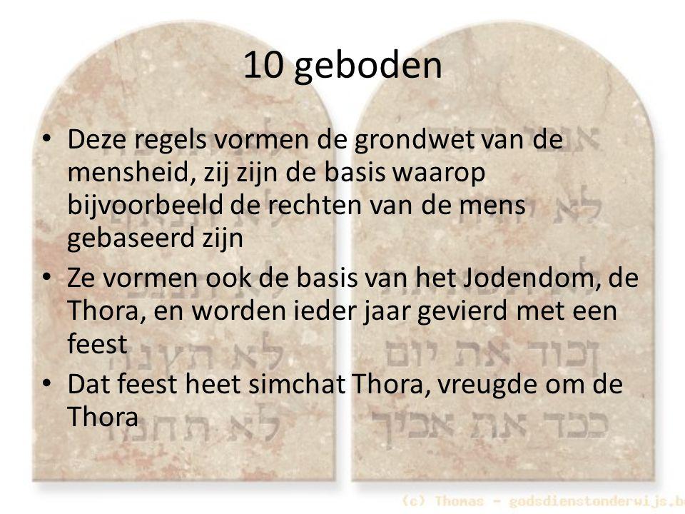 10 geboden Deze regels vormen de grondwet van de mensheid, zij zijn de basis waarop bijvoorbeeld de rechten van de mens gebaseerd zijn Ze vormen ook d