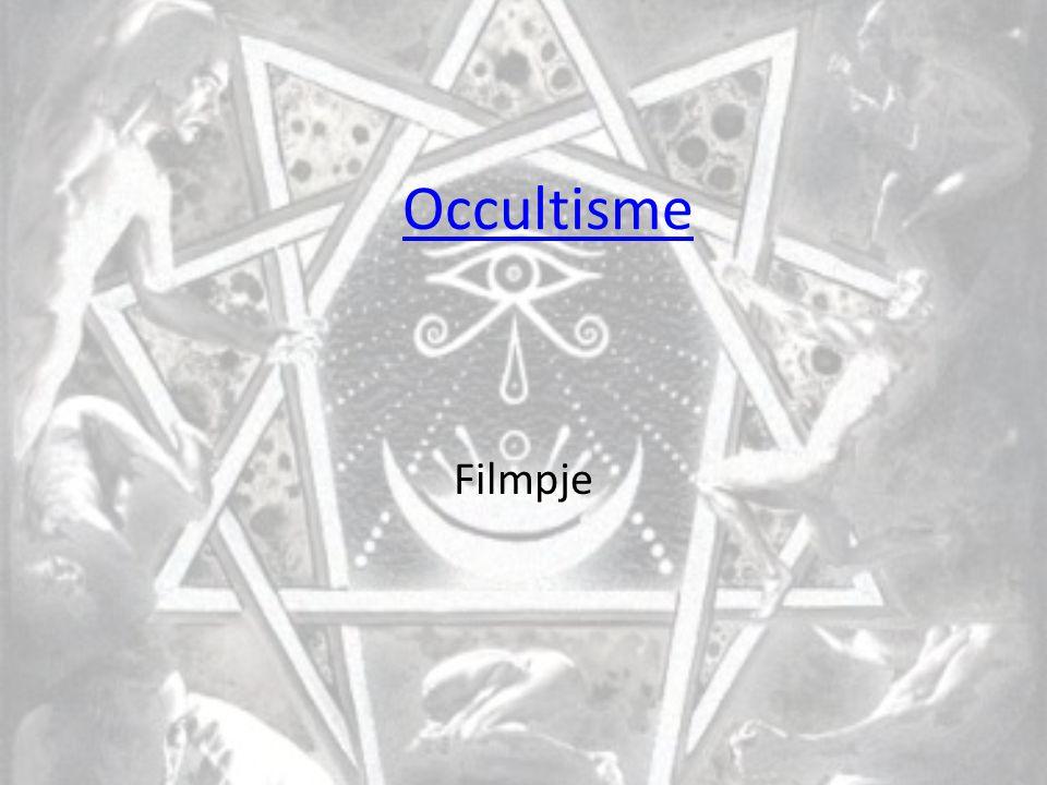 Occultisme Ook komt het occulte voor in de media T.V.