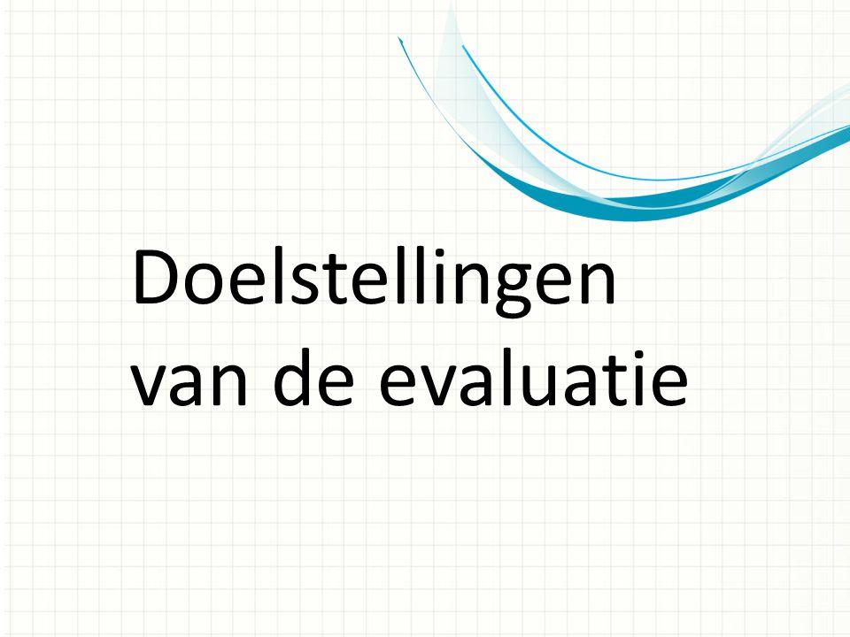 Doelstellingen van de evaluatie