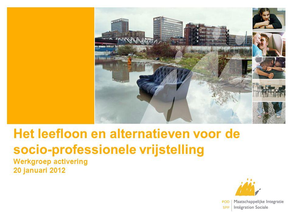 Het leefloon en alternatieven voor de socio-professionele vrijstelling Werkgroep activering 20 januari 2012
