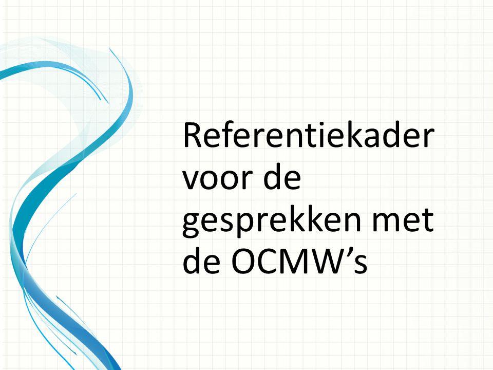 Referentiekader voor de gesprekken met de OCMW's