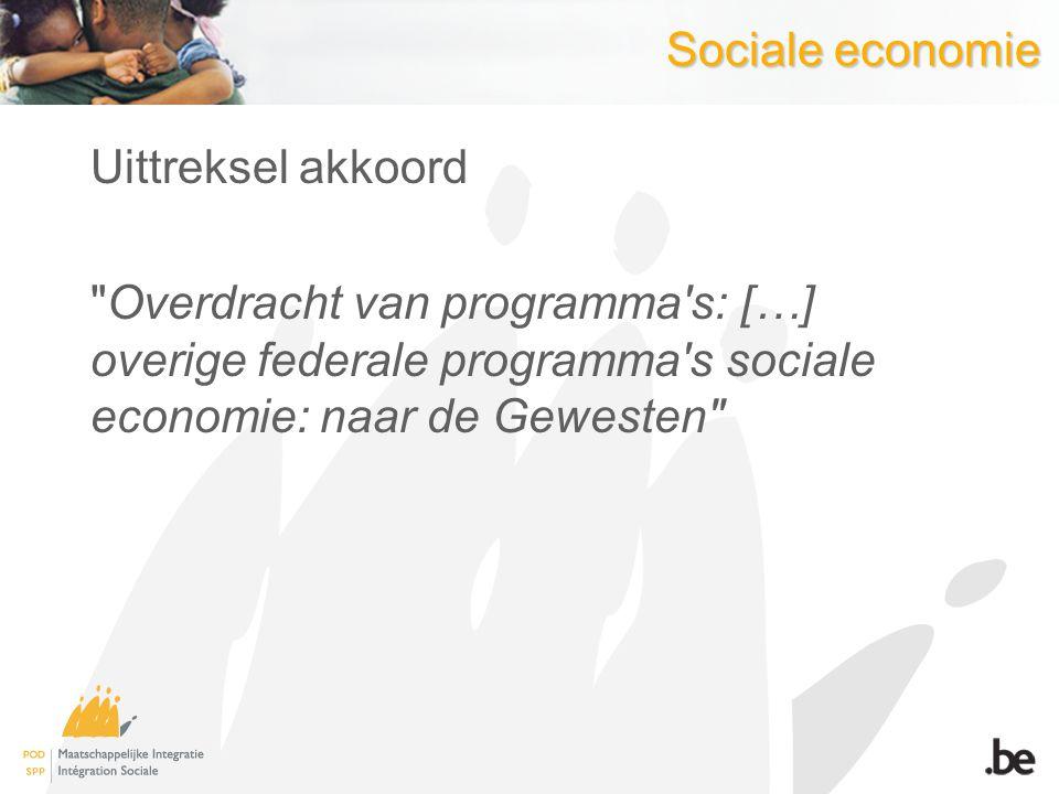Sociale economie Uittreksel akkoord