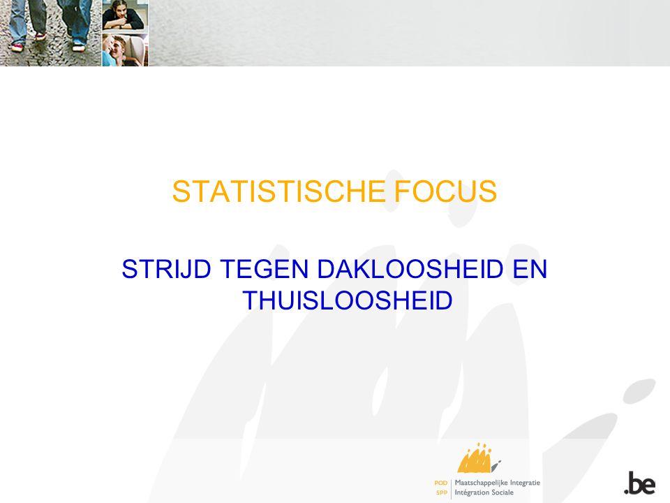STATISTISCHE FOCUS STRIJD TEGEN DAKLOOSHEID EN THUISLOOSHEID