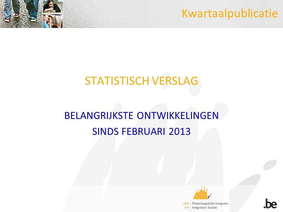 Kwartaalpublicatie STATISTISCH VERSLAG BELANGRIJKSTE ONTWIKKELINGEN SINDS FEBRUARI 2013