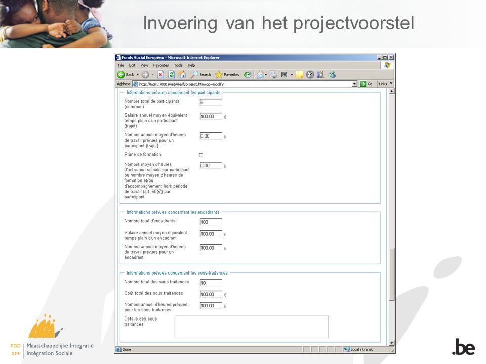 12 Invoering van het projectvoorstel