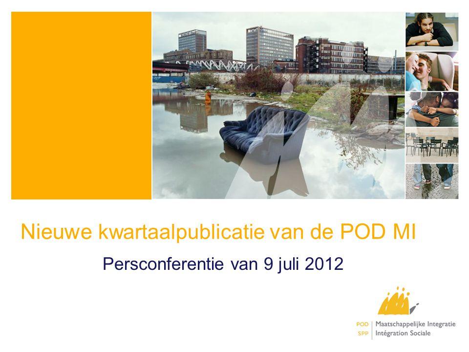 Nieuwe kwartaalpublicatie van de POD MI Persconferentie van 9 juli 2012