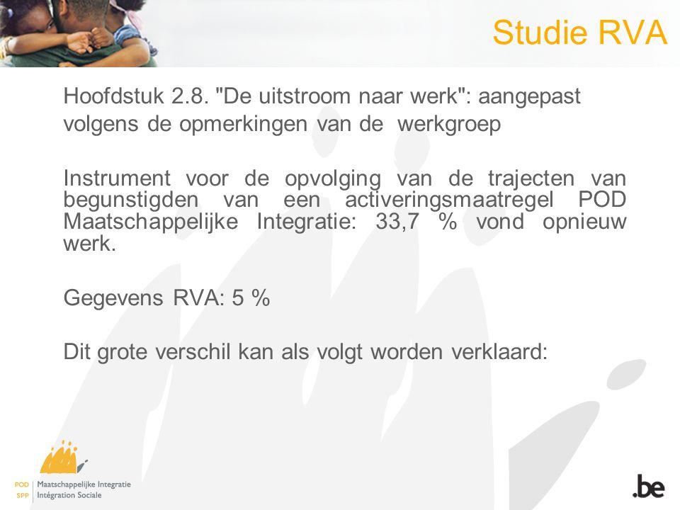 Studie RVA Hoofdstuk 2.8.