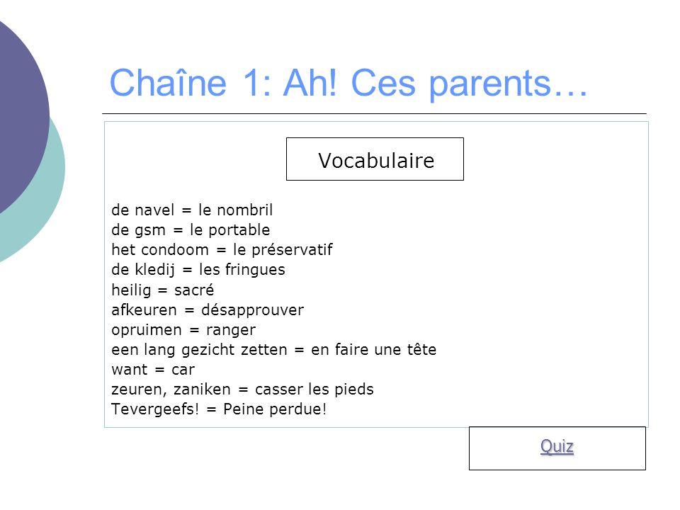 Chaîne 1: Ah.