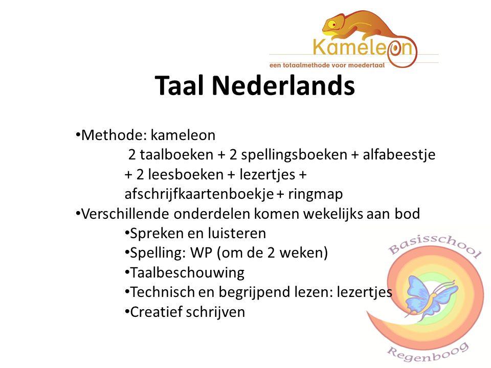 Taal Nederlands Methode: kameleon 2 taalboeken + 2 spellingsboeken + alfabeestje + 2 leesboeken + lezertjes + afschrijfkaartenboekje + ringmap Verschi