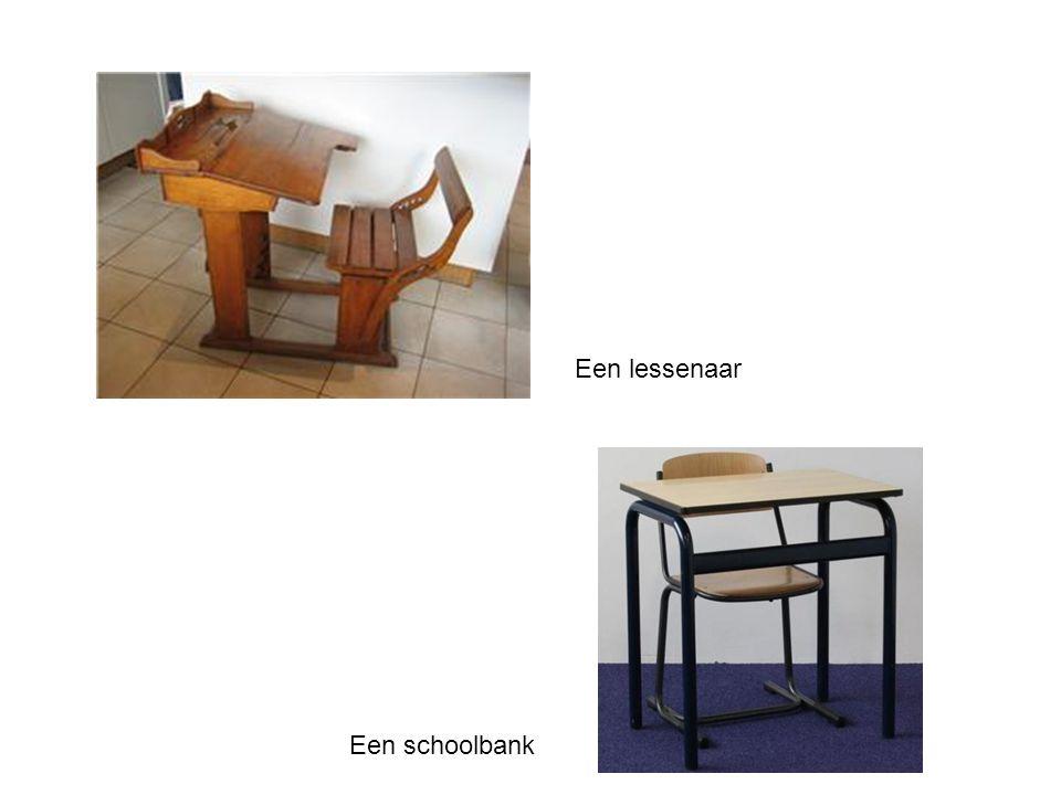 Een lessenaar Een schoolbank