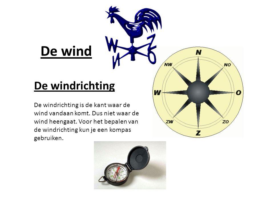 De wind De windrichting De windrichting is de kant waar de wind vandaan komt.
