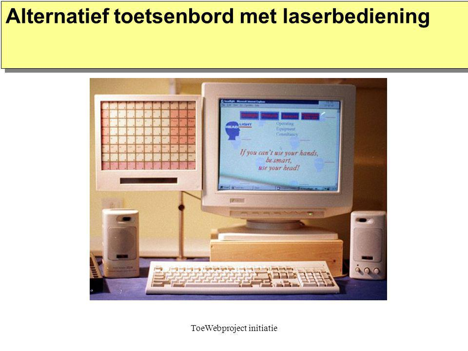 ToeWebproject initiatie Alternatief toetsenbord met laserbediening