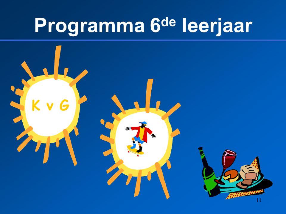 11 Programma 6 de leerjaar K v G