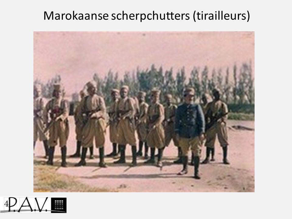Marokaanse scherpchutters (tirailleurs)
