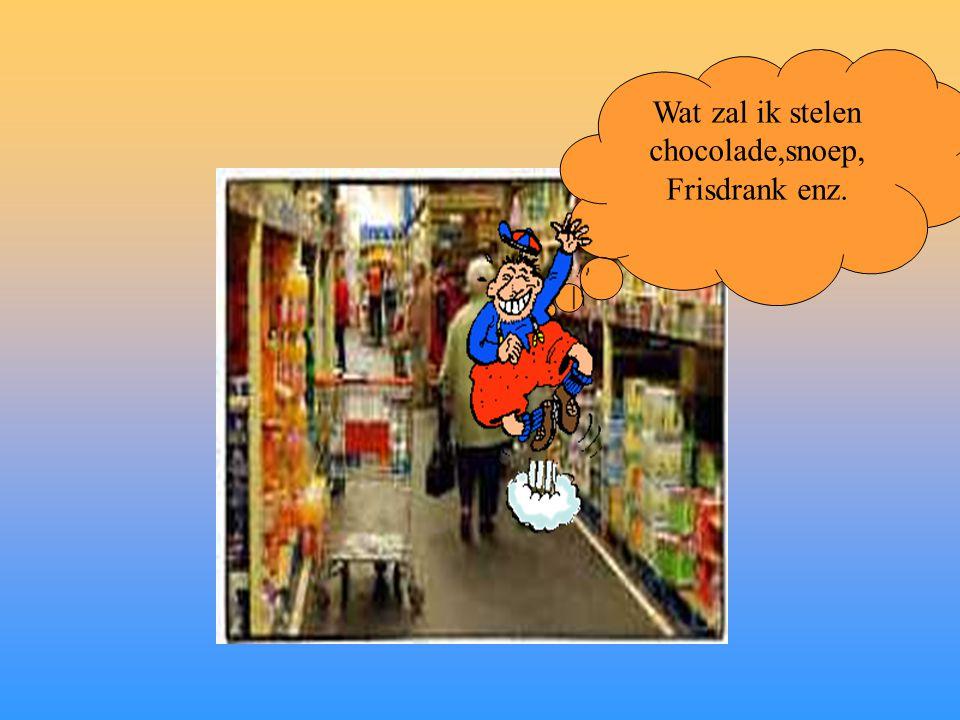 Wat zal ik stelen chocolade,snoep, Frisdrank enz.
