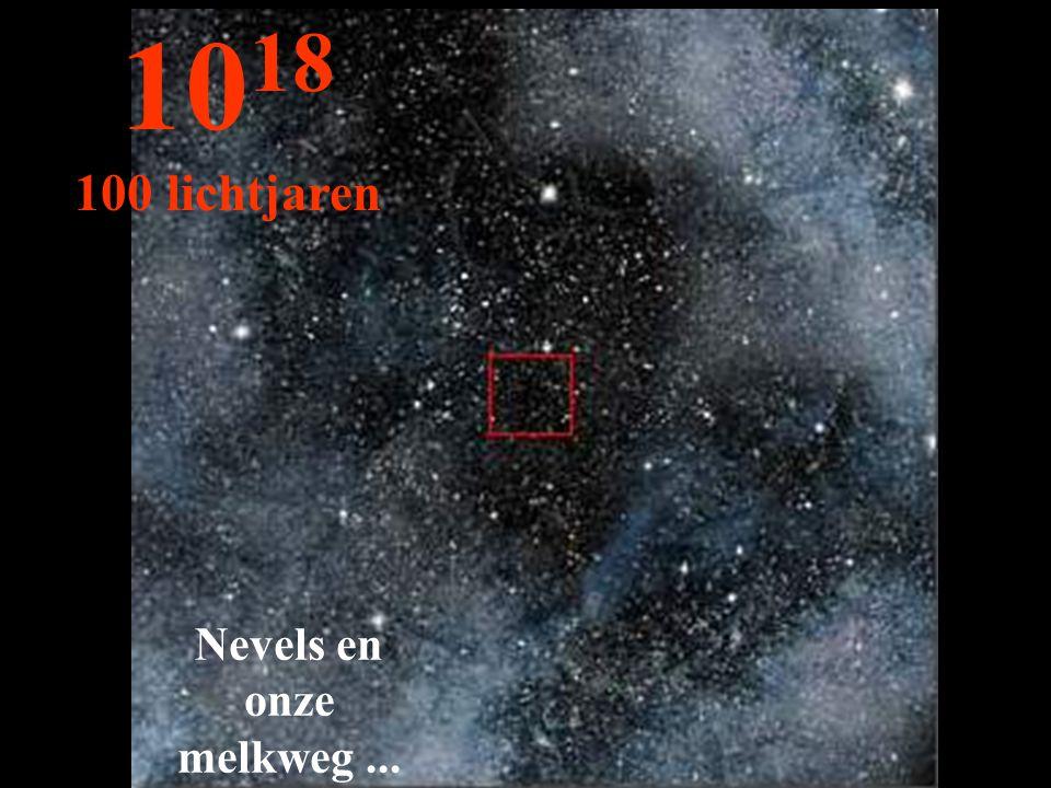 Nevels en onze melkweg... 10 18 100 lichtjaren
