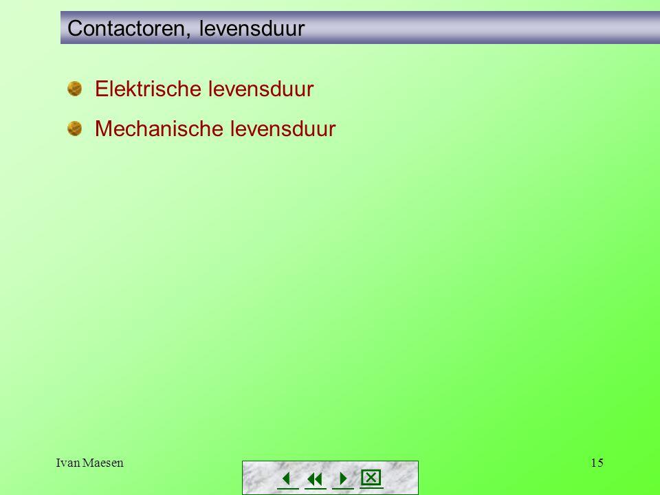Ivan Maesen15        Contactoren, levensduur Elektrische levensduur Mechanische levensduur