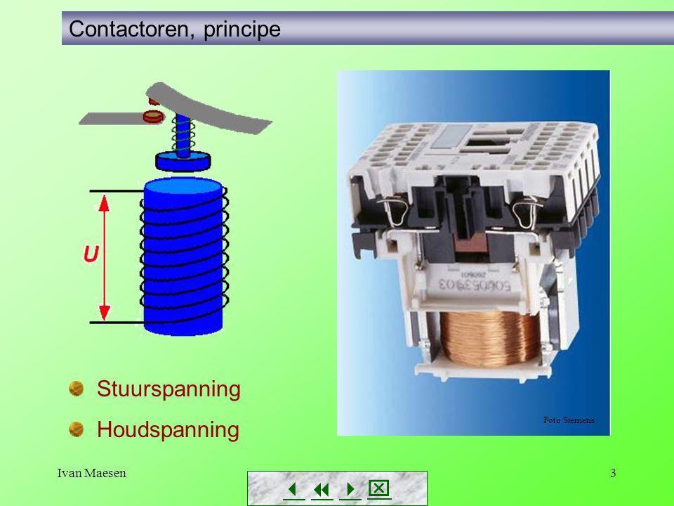 Ivan Maesen3        Contactoren, principe Foto Siemens Stuurspanning Houdspanning