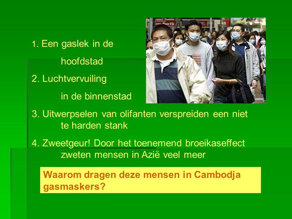 Waarom dragen deze mensen in Cambodja gasmaskers?