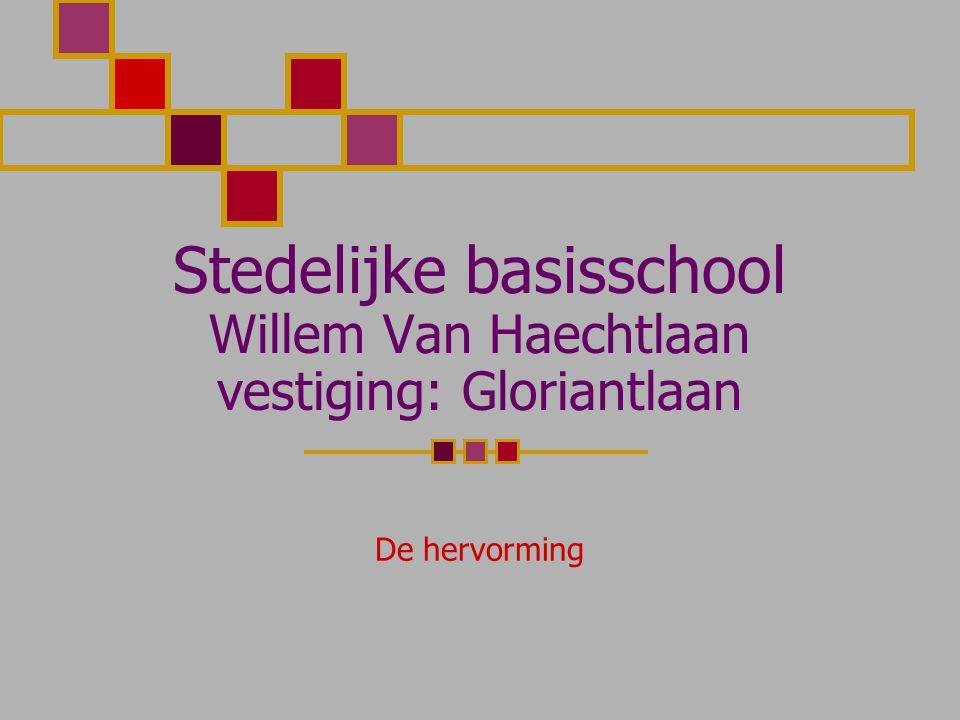 Stedelijke basisschool Willem Van Haechtlaan vestiging: Gloriantlaan De hervorming